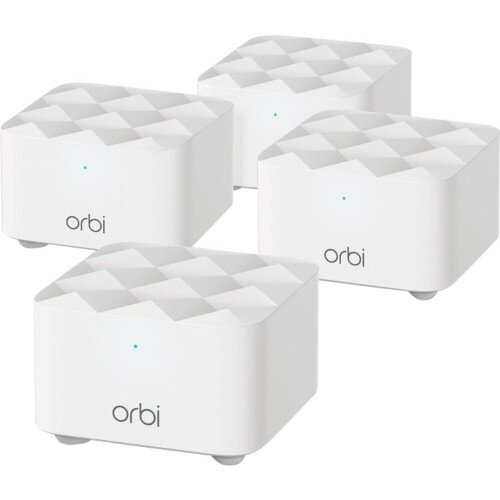NETGEAR Orbi Dual Band Mesh WiFi System AC1200 - Four Pack