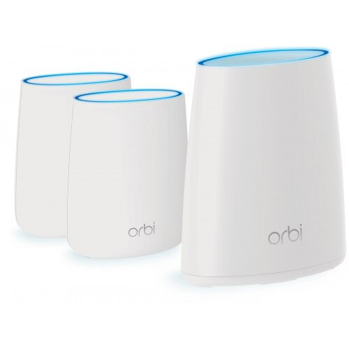 NETGEAR Orbi WiFi System with Advanced Cyber Threat Protection - 3 Pack