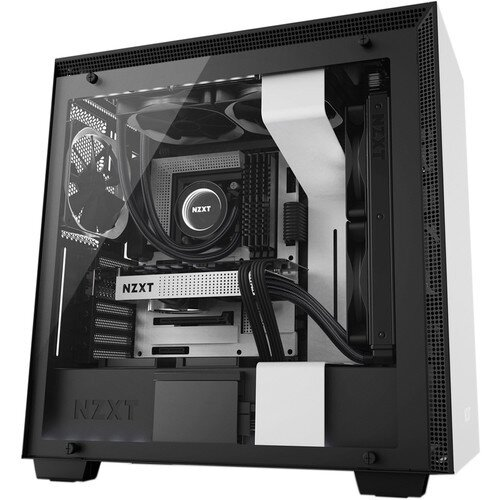 NZXT H700i Mid-Tower Case with Lighting and Fan Control - Matte White