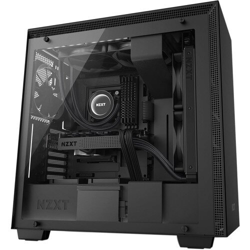 NZXT H700i Mid-Tower Case with Lighting and Fan Control - Matte Black