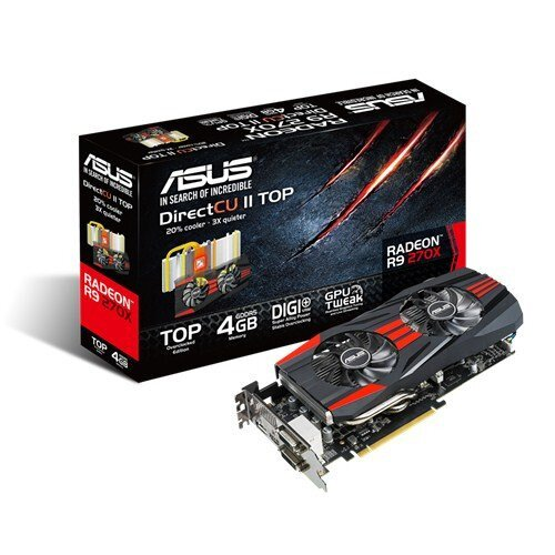 ASUS Radeon R9 270X Graphics Card - 4GB GDDR5