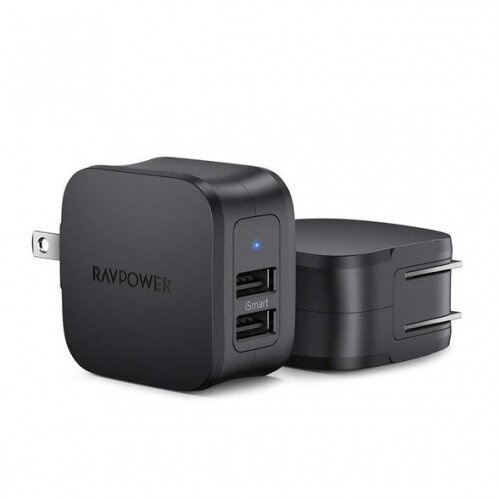 RAVPower Prime 17W 2-Pack 2-Port Wall Charger - Black