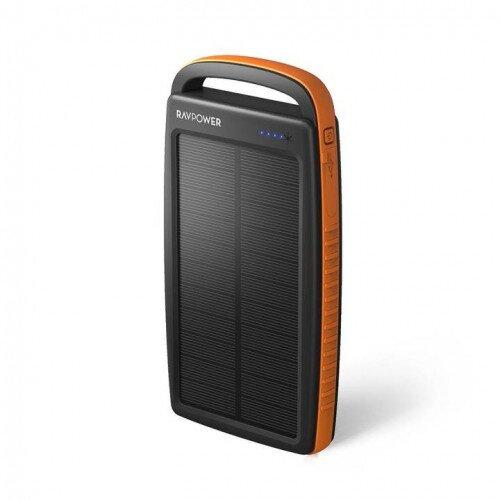 RAVPower Prime 20000mAh Portable Charger 2-Port Solar Power Bank - Orange