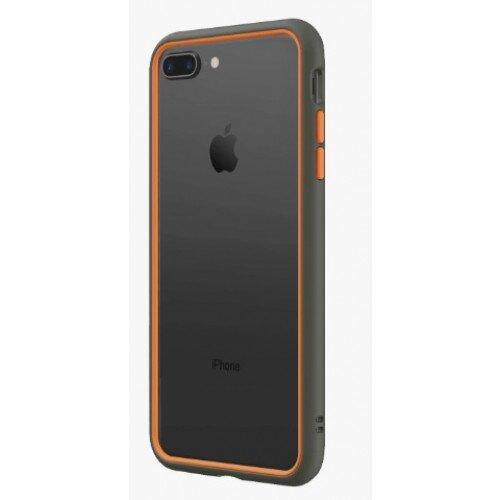 RhinoShield CrashGuard NX Bumper Case - iPhone 8 Plus - Graphite & Orange