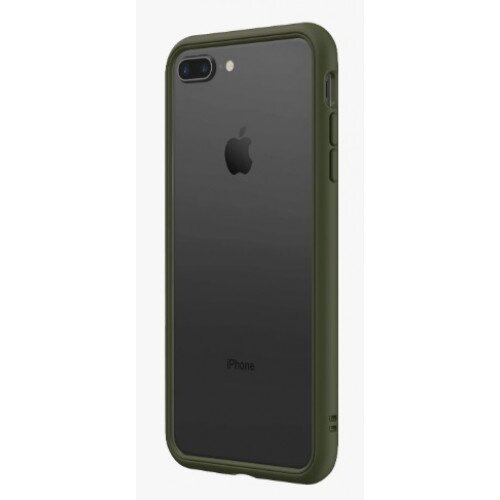 RhinoShield CrashGuard NX Bumper Case - iPhone 8 Plus - Camo Green