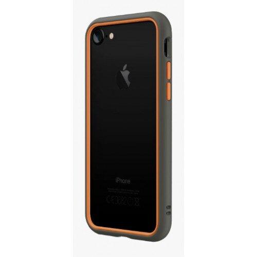 RhinoShield CrashGuard NX Bumper Case - iPhone 7 - Graphite & Orange