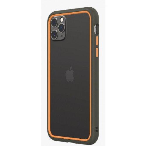 RhinoShield CrashGuard NX Bumper Case - iPhone 11 Pro Max - Graphite & Orange