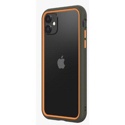 RhinoShield CrashGuard NX Bumper Case - iPhone 11 - Graphite & Orange
