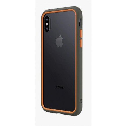 RhinoShield CrashGuard NX Bumper Case - iPhone X - Graphite & Orange