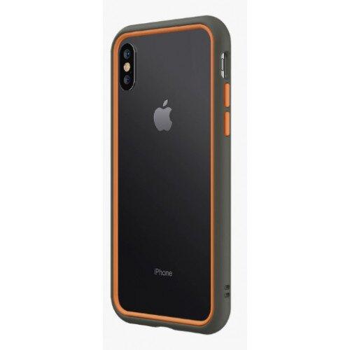 RhinoShield CrashGuard NX Bumper Case - iPhone XS - Graphite & Orange