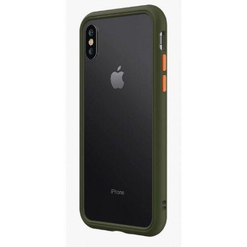 RhinoShield CrashGuard NX Bumper Case - iPhone XS Max - Camo Green