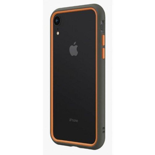 RhinoShield CrashGuard NX Bumper Case - iPhone XR - Graphite & Orange