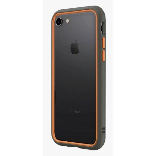 RhinoShield CrashGuard NX Bumper Case - iPhone 8 - Graphite & Orange
