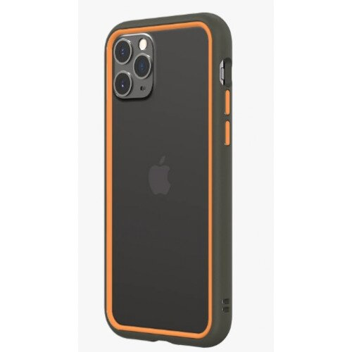 RhinoShield CrashGuard NX Bumper Case - iPhone 11 Pro - Graphite & Orange