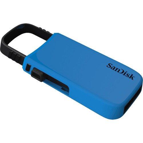 SanDisk Cruzer U USB Flash Drive - 64GB - Blue