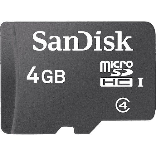 SanDisk Micro SDHC Memory Card - 4GB