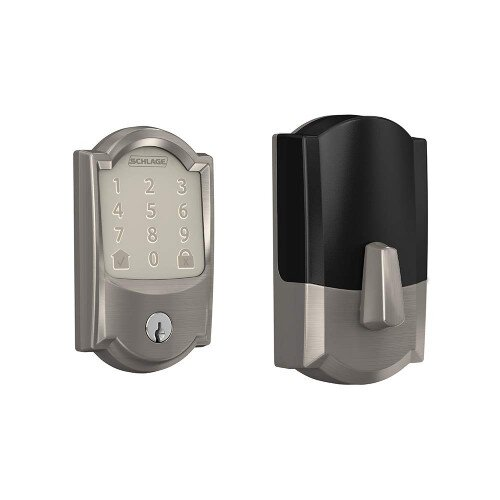 Schlage Encode Smart WiFi Deadbolt with Camelot Trim - Satin Nickel