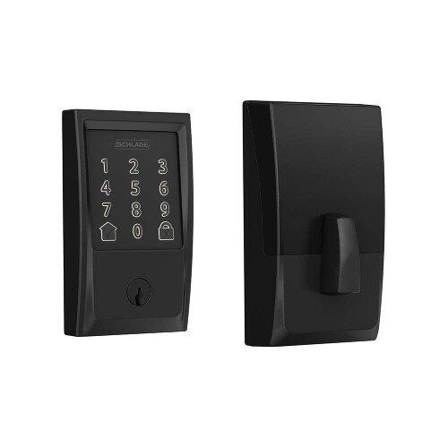 Schlage Encode Smart WiFi Deadbolt with Century Trim - Matte Black