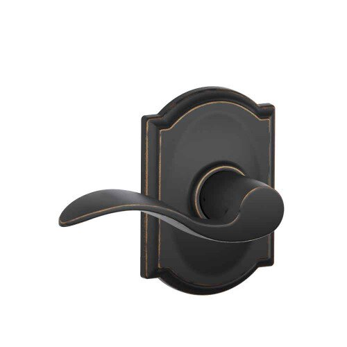 Schlage Accent Lever with Camelot Trim Hall & Closet Lock - Aged Bronze