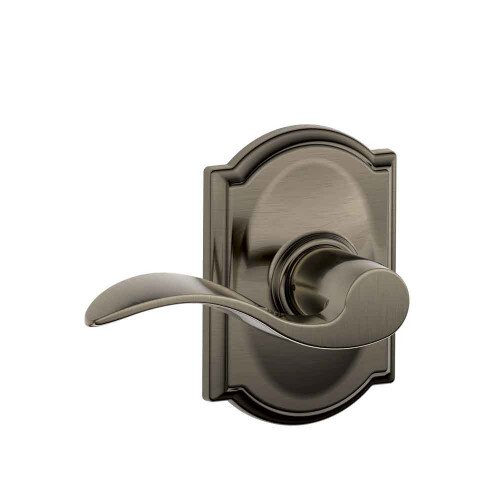 Schlage Accent Lever with Camelot Trim Hall & Closet Lock - Antique Pewter