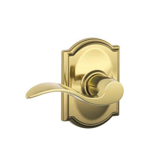 Schlage Accent Lever with Camelot Trim Hall & Closet Lock - Bright Brass