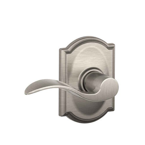 Schlage Accent Lever with Camelot Trim Hall & Closet Lock - Satin Nickel