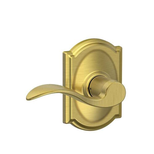 Schlage Accent Lever with Camelot Trim Hall & Closet Lock - Satin Brass