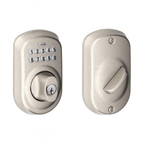 Schlage Plymouth Trim Keypad Deadbolt - Satin Nickel