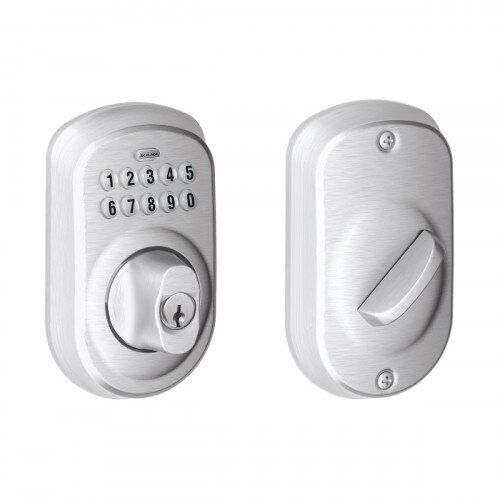 Schlage Plymouth Trim Keypad Deadbolt - Satin Chrome
