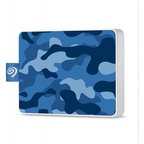 Seagate One Touch Ultra-small Usb 3.0 External SSD Special Edition - 500GB - Camo Blue