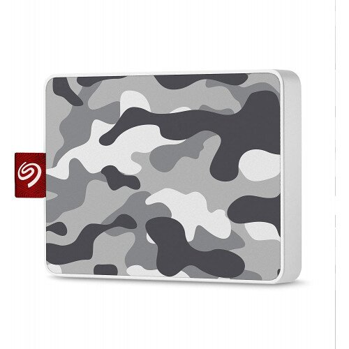 Seagate One Touch Ultra-small Usb 3.0 External SSD Special Edition - 500GB - Camo Gray/White