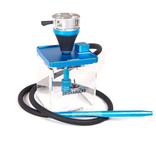 Shishabucks Cloud Micro + Sky Bowl + Stratus - Blue - Black Bowl - Regular (20-25g) - Regular Stratus