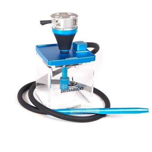 Shishabucks Cloud Micro + Sky Bowl + Stratus - Blue - Peach Gold Bowl - Regular (20-25g) - Regular Stratus