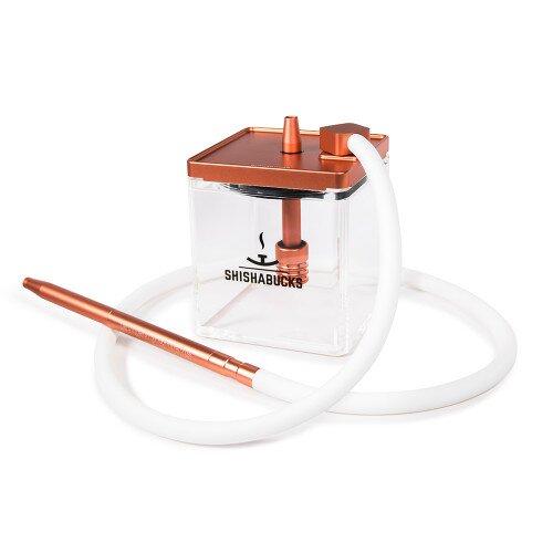 Shishabucks Cloud Micro + Sky Bowl + Stratus - Peach Gold - Red Bowl - Mini (10-15g) - Regular Stratus