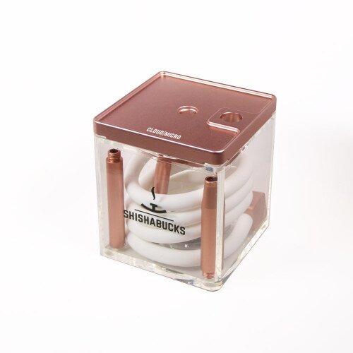 Shishabucks Cloud Micro + Sky Bowl + Stratus - Rose Gold - Red Bowl - Mini (10-15g) - Regular Stratus