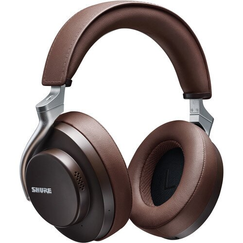 Shure AONIC 50 Noise-Canceling Over-Ear Wireless Headphones - Brown