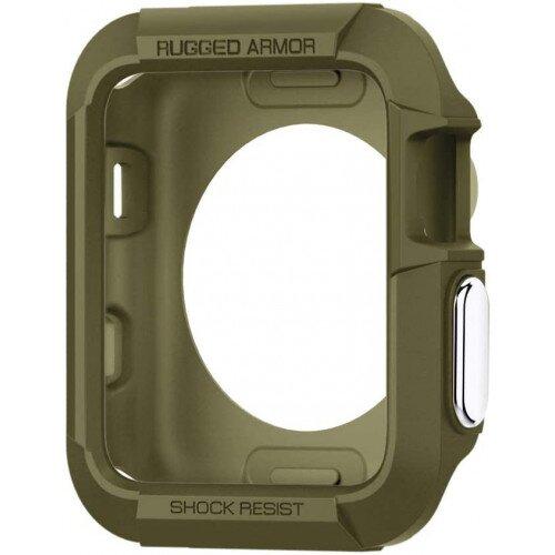 Spigen Apple Watch Series 3/2/1 (42mm) Case Rugged Armor - Olive Green