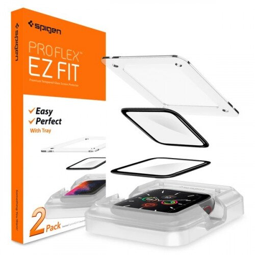 Spigen Apple Watch Series 5 / 4 Screen Protector ProFlex EZ Fit
