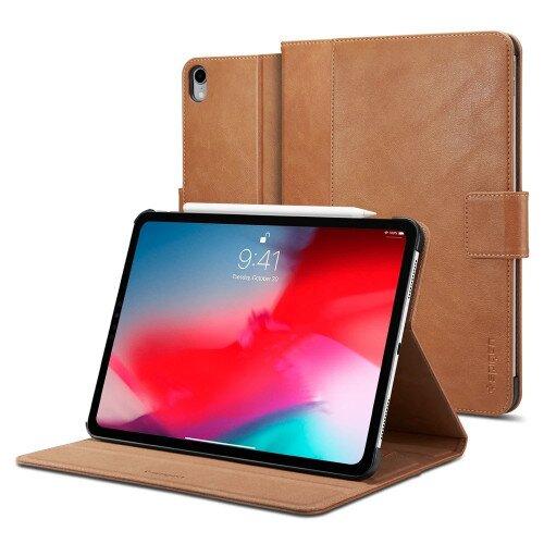 """Spigen iPad Pro 11"""" (2018) Case Stand Folio - Brown"""