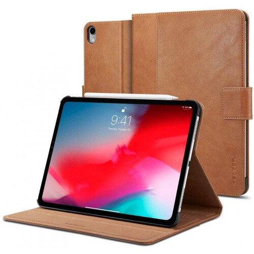 """Spigen iPad Pro 12.9"""" (2018) Case Stand Folio - Brown"""