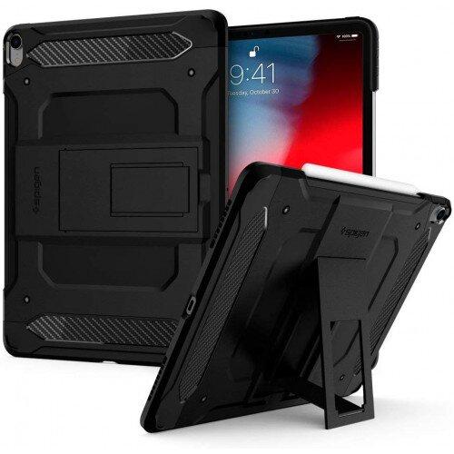 """Spigen iPad Pro 12.9"""" (2018) Case Tough Armor Tech - Black"""