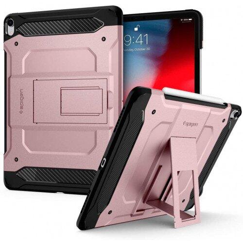 """Spigen iPad Pro 12.9"""" (2018) Case Tough Armor Tech - Rose Gold"""