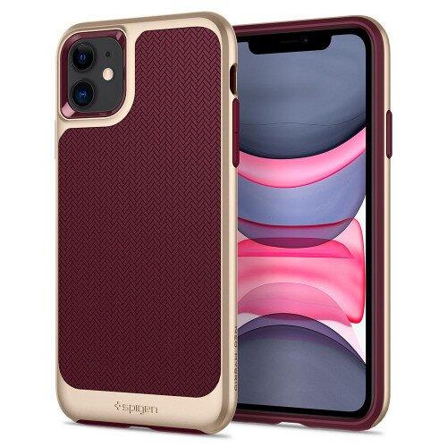 Spigen iPhone 11 Case Neo Hybrid - Burgandy