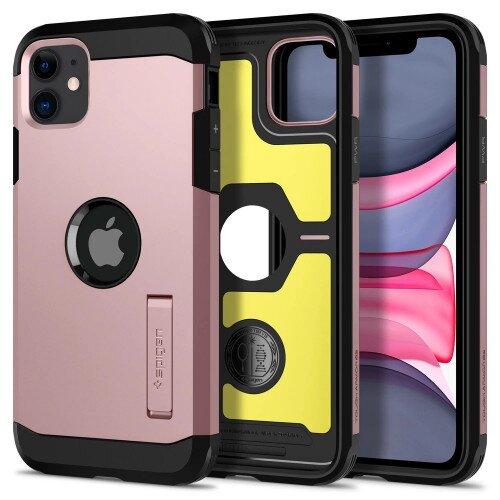 Spigen iPhone 11 Case Tough Armor - Rose Gold