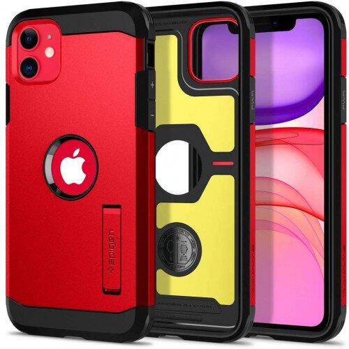 Spigen iPhone 11 Case Tough Armor - Red