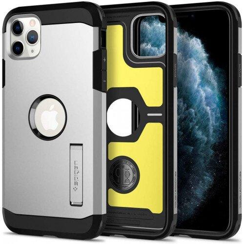 Spigen iPhone 11 Pro Case Tough Armor - Satin Silver
