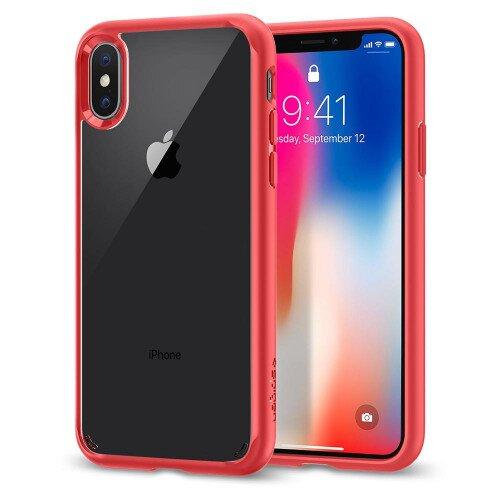 Spigen iPhone X Case Ultra Hybrid - Red