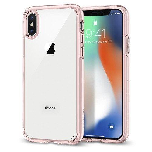 Spigen iPhone X Case Ultra Hybrid - Rose Crystel