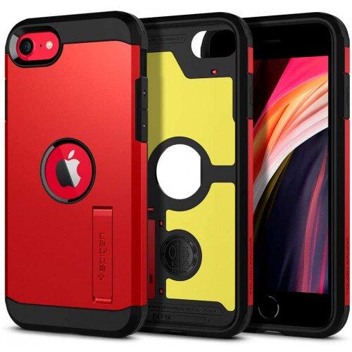 Spigen Tough Armor Case for iPhone SE (2020) - Red