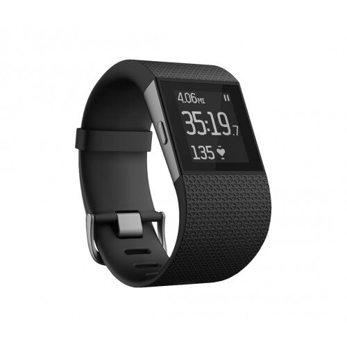 Fitbit Surge GPS Activity Tracking Watch - Black - XL